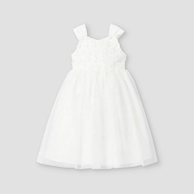 Mia & Mimi Toddler Girls' Floral Lace Tank Dress - White