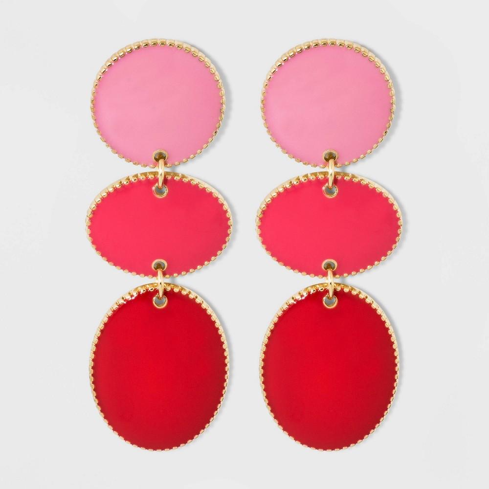 Sugarfix by BaubleBar Tiered Enamel Drop Earrings - Magenta Pink, Girl's