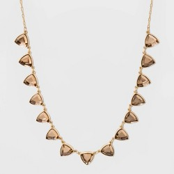 Triangle Stone Frontal Collar Necklace - A New Day™