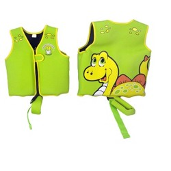 Poolmaster Children's Dinosaur Polyester Swim Vest - Green/Yellow - XS