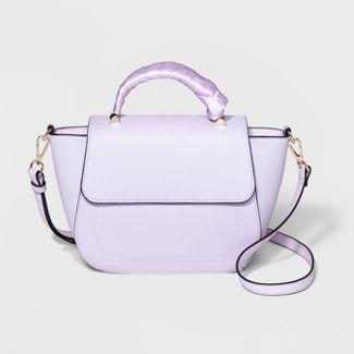 Top Handle Satchel Handbag - A New Day™ Purple