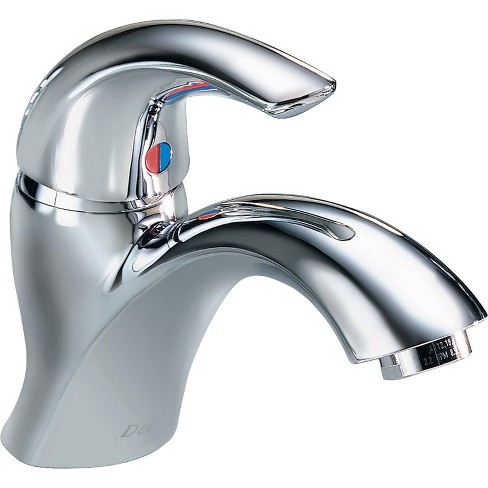 Delta 22c601 Single Handle 1 5gpm Single Hole Mount Bathroom Faucet With Wrench Flat Aerator Target