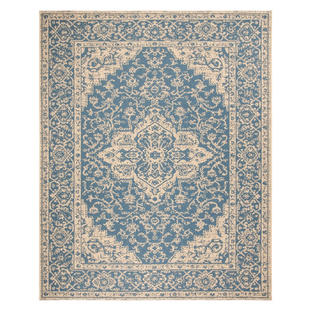 8'X10' Medallion Loomed Area Rug Blue/Cream (Blue/Ivory) - Safavieh