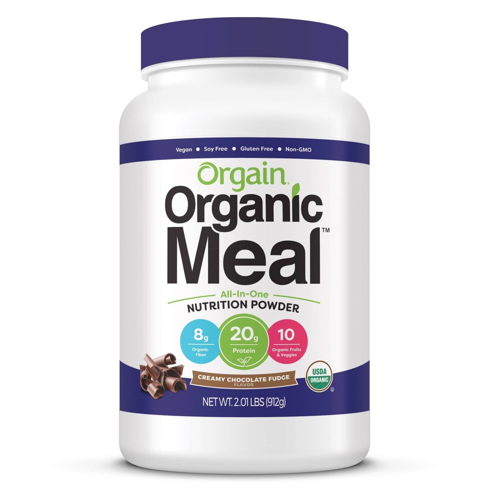 Orgain Organic Meal Nutritional Protein Powder - Creamy Chocolate Fudge - 2.01lb The perfect solution for anyone serious about complete, organic nutrition. Each delicious serving contains organic protein, fruits and veggies, and sprouts and greens. Orgain Organic Meal Powder is an ideal, all-in-one meal replacement with the perfect balance of nutritious and delicious. Gender: Unisex. Age Group: Adult.