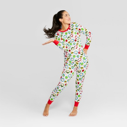 56832cc676 Women s Peanuts Holiday Pajama Set - White M   Target