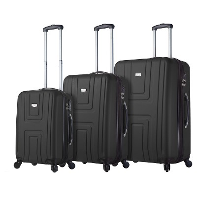 Mia Viaggi Ferrara Hardside 3pc Luggage Set - Black