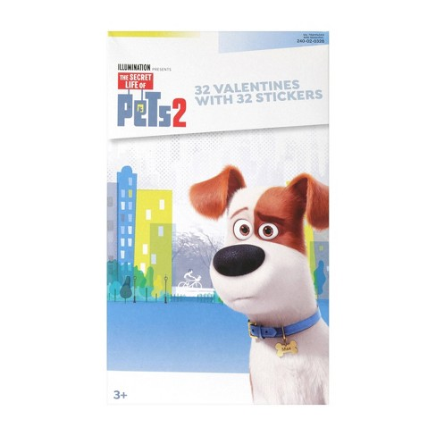 Secret Life Of Pets 2 32ct Deluxe Valentines With Stickers - image 1 of 1