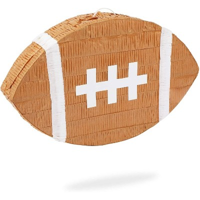 """Football Pinata for Kids Sports Theme Birthday Party Decorations, Small 16.5"""" x 10"""""""
