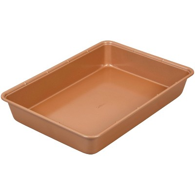 "Wilton 9""x13"" Ceramic Coated Non-Stick Portions Oblong Pan"