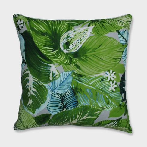"25"" Lush Leaf Jungle Floor Pillow Green - Pillow Perfect - image 1 of 1"