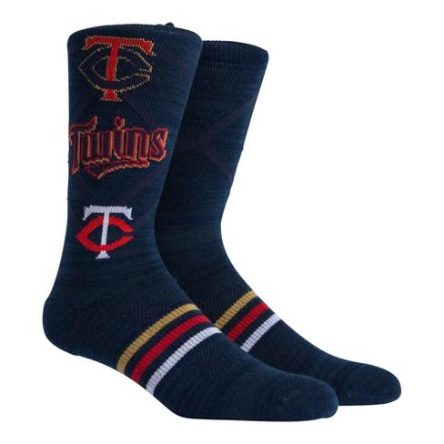 MLB Minnesota Twins Stacked Premium Crew Socks - image 1 of 2