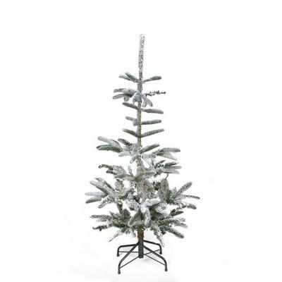 Northlight 4.5' Green Flocked Noble Fir Artificial Christmas Tree - Unlit