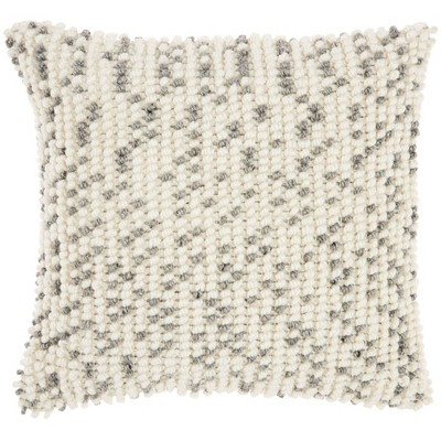 """18""""x18"""" Indoor/Outdoor Dots Square Throw Pillow Gray - Mina Victory"""