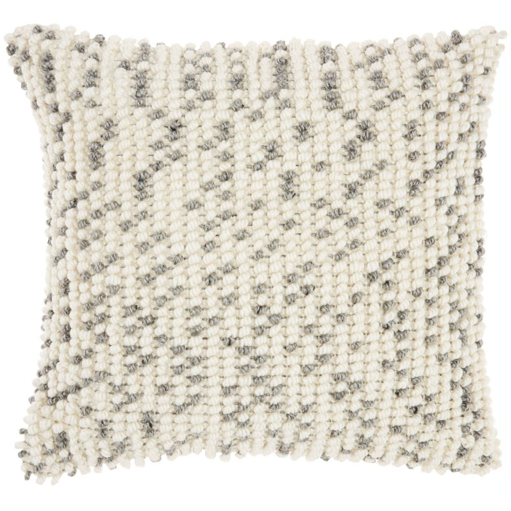 18 34 X18 34 Indoor Outdoor Dots Square Throw Pillow Gray Mina Victory