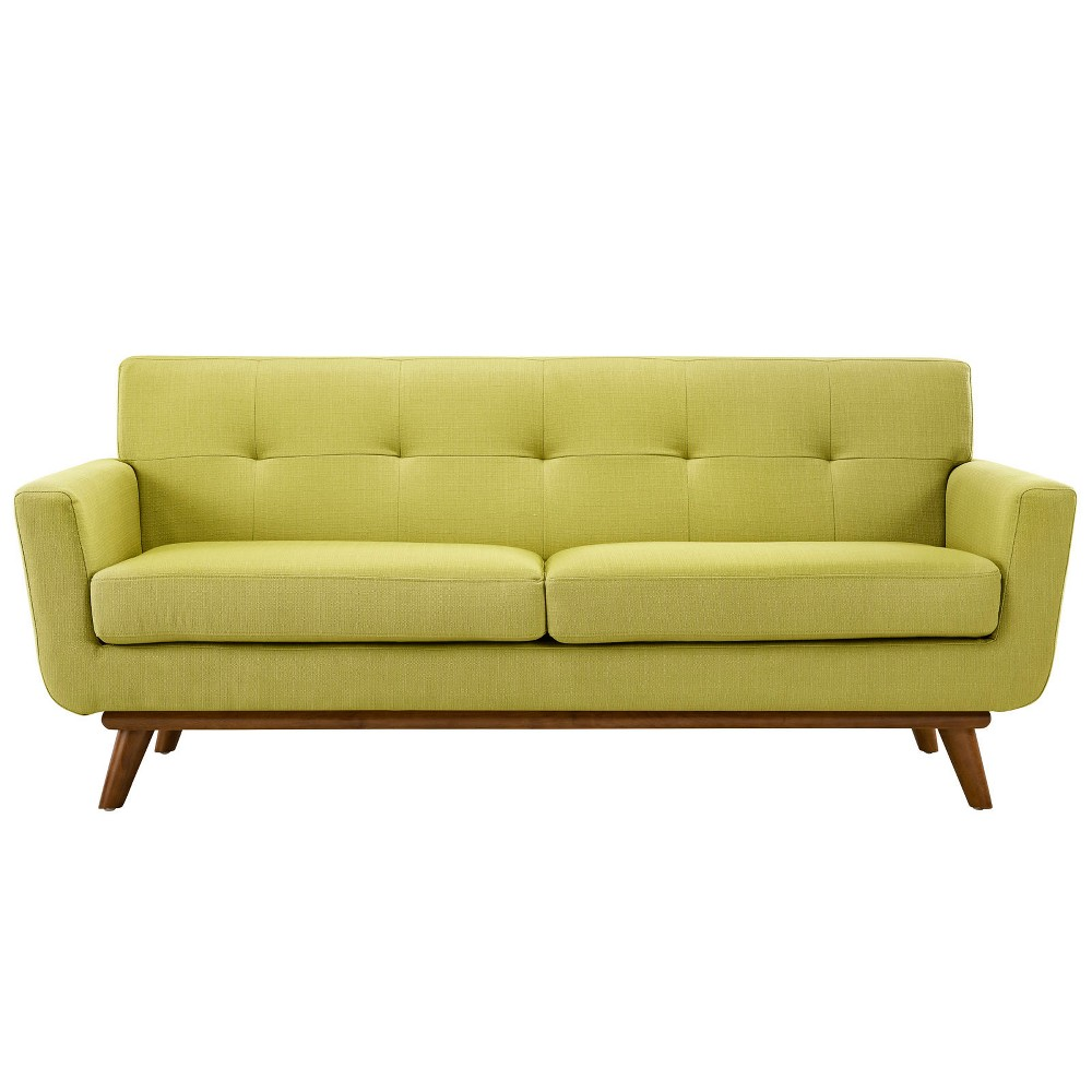 Engage Upholstered Loveseat Wheatgrass (Green) - Modway