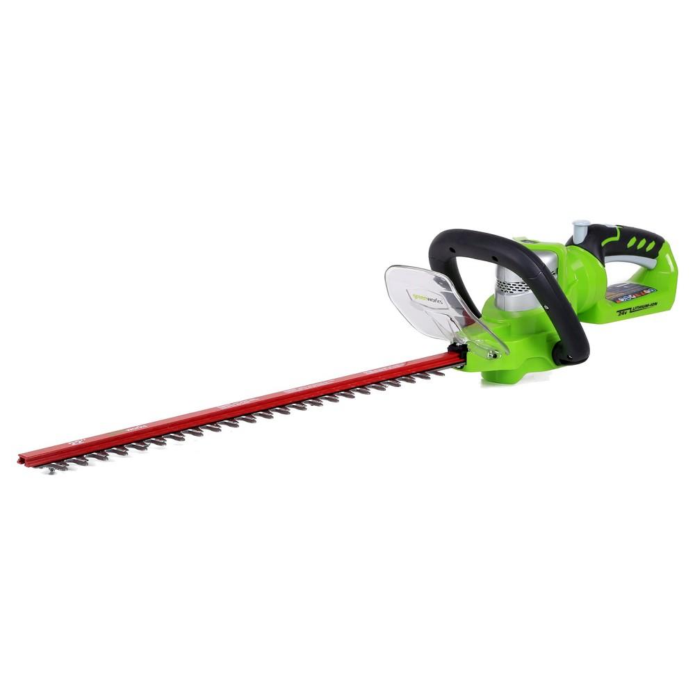 Image of 22 24 Volt Hedge Trimmer - GreenWorks, Green