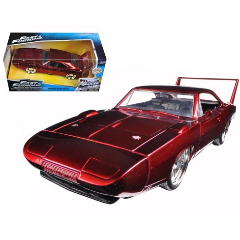 Red Dodge Charger >> 1969 Dodge Charger Daytona Red Fast Furious 7 Movie 1 24 Diecast