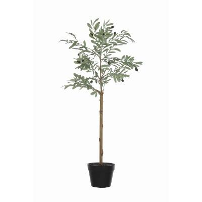 4' Artificial Olive Faux Flower Tree in Pot - 3R Studios