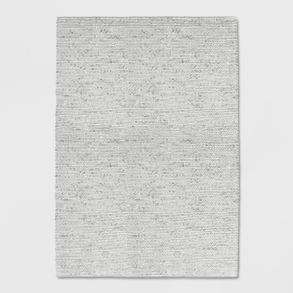 5'x7' Chunky Braided Wool Rug Ivory - Project 62 was $299.99 now $149.99 (50.0% off)