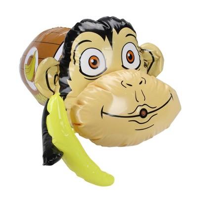 "Swim Way 20"" Inflatable Monkey in Banana Barrel Water Blaster"