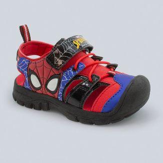 Toddler Boys' Marvel Spider-Man Light-Up Hiking Sandals - Red 9