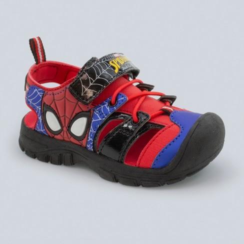 Toddler Boys' Marvel Spider-Man Light-Up Hiking Sandals - Red - image 1 of 3