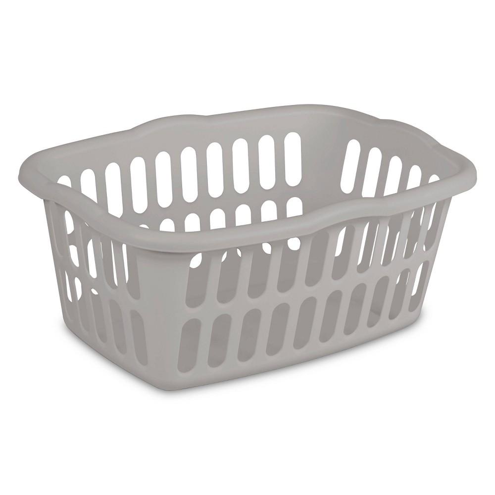 Image of 1.5bu Laundry Basket Gray - Room Essentials