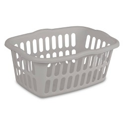 1.5 Bushel Rectangular Laundry Basket Gray - Room Essentials™