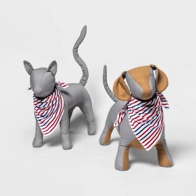 Pet Americana Striped Matching Family Pajama Bandanna - White One Size
