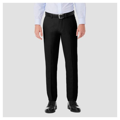 Haggar H26 Men's Performance 4 Way Stretch Slim Fit Trousers - Black 36x34