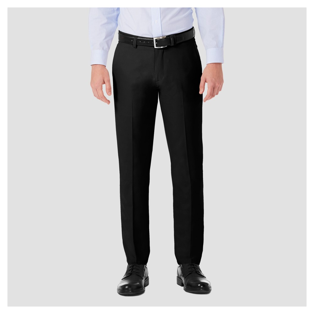 Haggar H26¤ Men's Performance 4 Way Stretch Slim Fit Trouser Pants - Black 33x30
