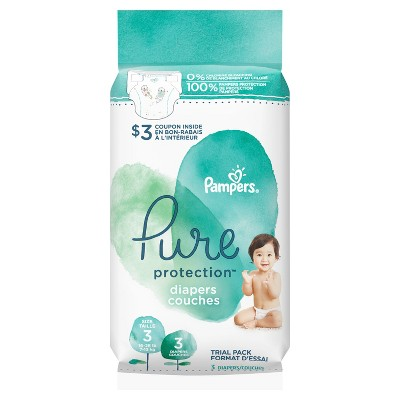 Pampers Pure Protection Diapers - Size 3 (3ct)