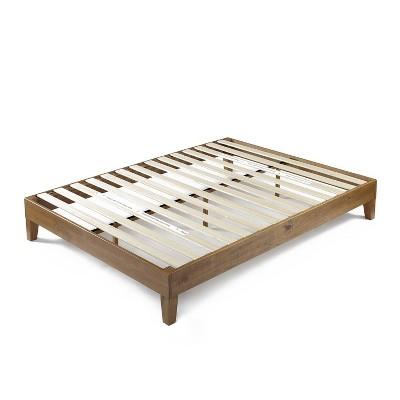 """12"""" Alexis Deluxe Wood Platform Bed Rustic Pine - Zinus"""
