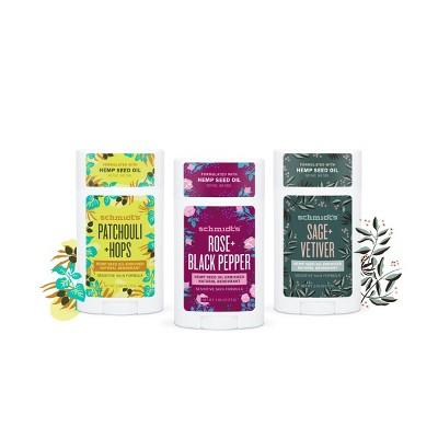 Schmidt's Aluminum-Free Hemp Seed Oil Natural Deodorant for Sensitive Skin Collection