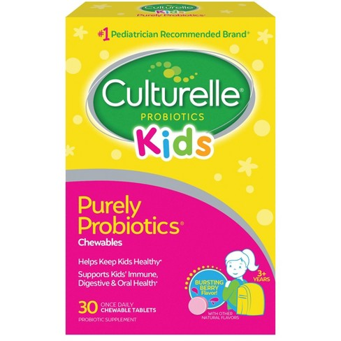 Culturelle Kid's Probiotic Dietary Supplement Chewable Tablets - Berry - 30ct - image 1 of 4