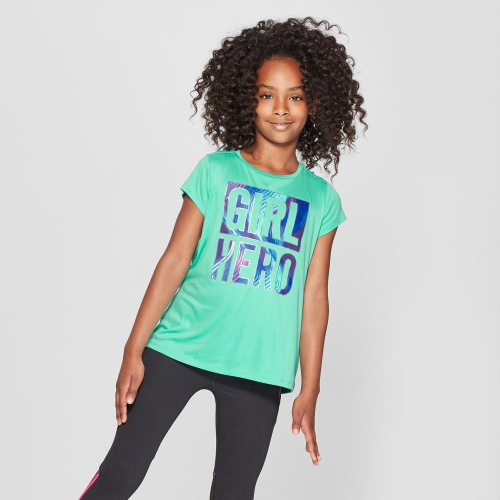 Girls' Girl Hero Graphic Tech T-Shirt - C9 Champion Spring Green L
