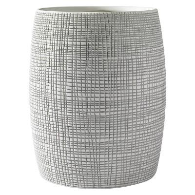 Raffia Wastebasket Gray/White - Kassatex®