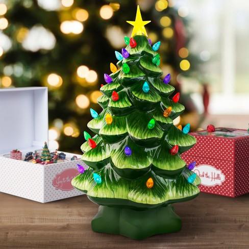 mr christmas lit ceramic christmas tree figurine green large target - Large Ceramic Christmas Tree