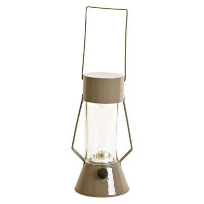 LED Outdoor Metal Lantern - Earth Gray - Room Essentials™