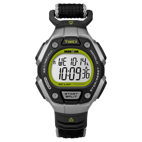 Women's Timex Ironman® Classic 30 Lap Digital Watch with Fastwrap® Nylon Strap - Black TW5K89800JT - image 1 of 1