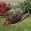 "35 x 10 x 11"" Wooden Decorative Wheelbarrow Planter - Sunnydaze Decor - image 3 of 4"