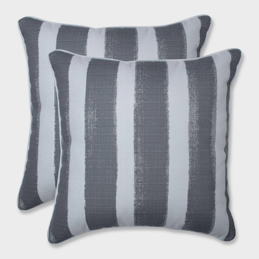 18.5 2pk Nico Sea Salt Throw Pillows Gray - Pillow Perfect
