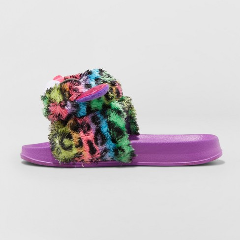 01c25454c4c8 Girls  Dotty Beanie Boo Pool Slided Slippers   Target