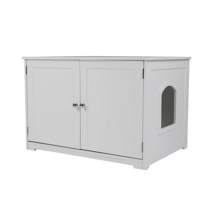 Merry Products Kitty Litter Loo Bench Cat Litter - White