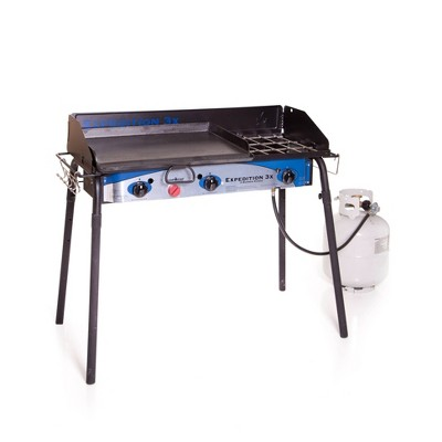 """Camp Chef Expedition 3X Three Burner Stove with 16"""" x 24"""" Griddle"""