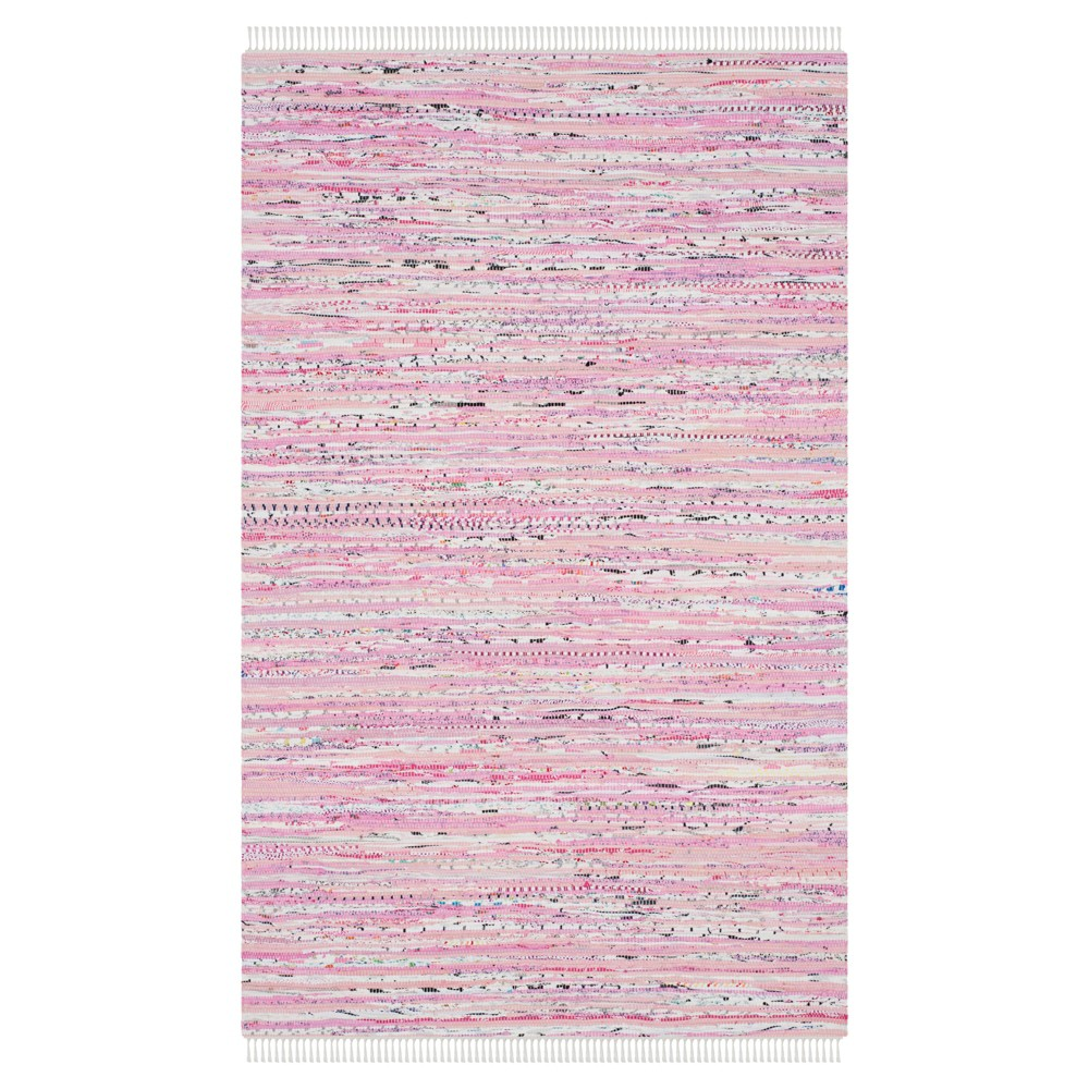 5'x7' Burst Area Rug Light Pink - Safavieh