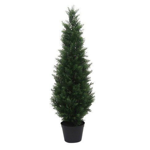 Artificial Potted Cedar Tree (UV) Green - Vickerman - image 1 of 4