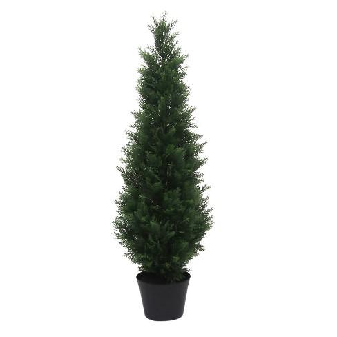 Artificial Potted Cedar Tree (UV) Green - Vickerman - image 1 of 4