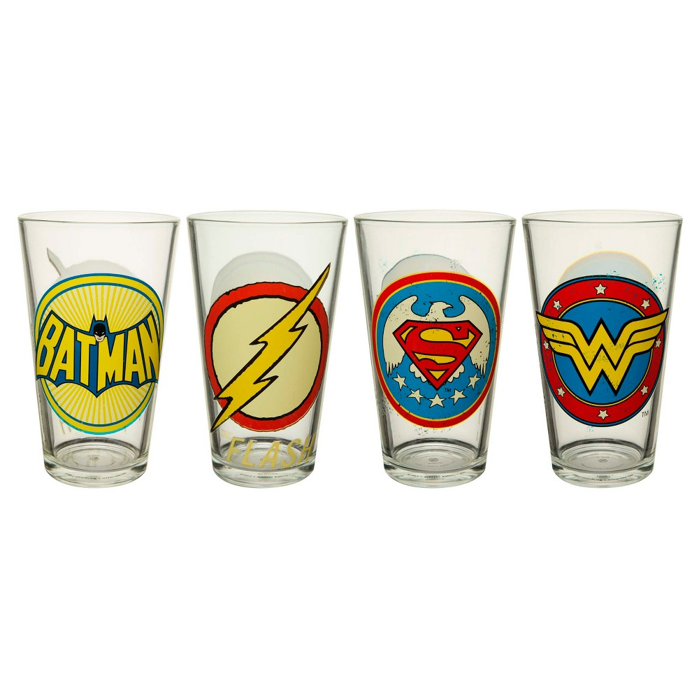 Zak Designs DC Super Heroes Drinkware Set, Multi-Colored