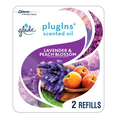 Glade Lavender & Peach Blossom PlugIns Refill - 2ct